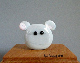 Handmade Mouse Bead  Lampwork Focal by teribeads - Pixie FatCat Pal