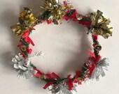 Handmade Winter Holiday Wreath Ornament