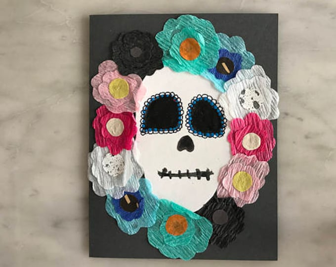 Featured listing image: Day of The Dead Card - Feliz - 1 - 2017