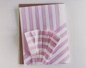 Des Rayures Blank Card - Stripes and Pleats - Lavender -  2019