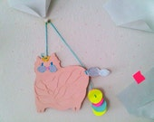 Rosa Cat Hanging Collage Piece