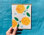 Marigolds/ Cempazuchitls Collage Blank Card - 2018