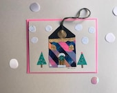 Hanging Ornament Card - Winter Edwardian House - London - 2017