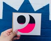 Luna y Sol Night Greeting Card - 2013