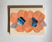 Iggy - Paper Flowers Blank Greeting Card - 2018
