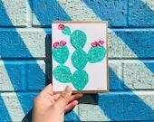 Cactus with Tuna Crepe Card 2017