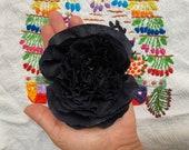 Handmade Paper Crepe Flowers, 1 Dozen, Color Black, Centerpieces
