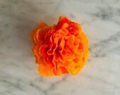 1 Dozen - (12 qty) - Cempasuchil/ Marigold Flowers - Paper Crepe- 2019