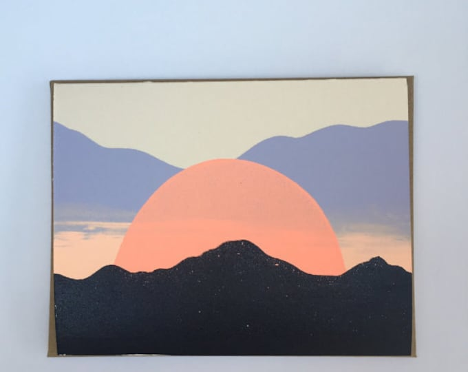 Featured listing image: Sunset in Santa Fe, NM Blank Card 2016