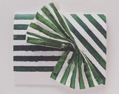 Des Rayures Blank Card - Stripes and Pleats - Pine -  2019
