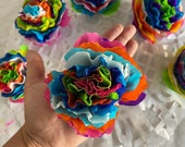 """Colores!  Paper Crepe Flowers, 3.5"""" Bloom, No Assembly Required, Handmade"""