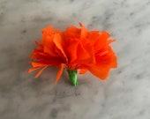 1 Dozen -(12 Qty) - Cempasuchil/ Marigold Pom Pom Flowers - Paper Crepe - 2019