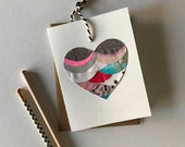 FREE SHIPPING Collage Blank Heart Greeting Card - 2019