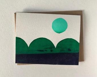 Blue Sunset Blank Card - 2019
