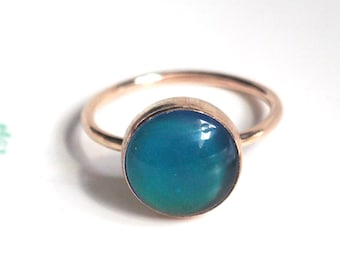 f64b184b82 Medium Mood Ring In Rose Gold with Color Changing Stone