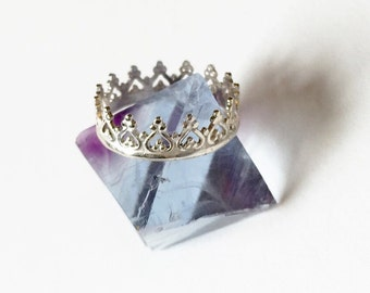 Sterling Silver Crown Ring, Daughter of a King
