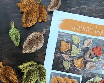 Autumn Leaves Crochet Pattern Set Digital Download Autumn Collection Crochet Leaf Pattern