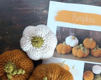 Pumpkins Crochet Pattern Set Digital Download Autumn Collection