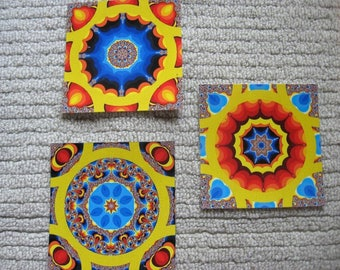 Fractal Mandala Magnet Set
