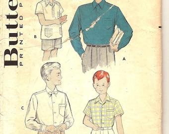 Butterick 5839 50's Boys Shirt Pattern Size 12