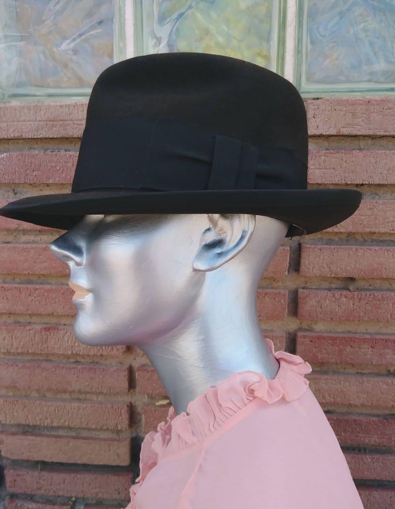 Vintage 1950s Mens Brown Wool Fedora Hat Sz S 6.75  Unisex