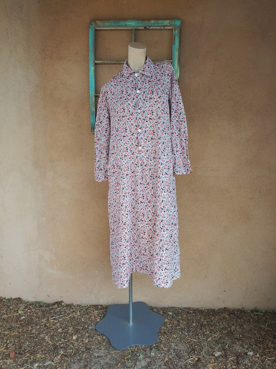 Vintage 1930s Feedsack Dress Calico Cotton Dressin