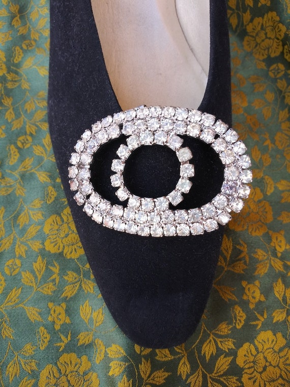 Vintage 1950s Rhinestone Shoe Clips 50s Accessorie