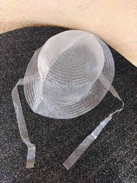 Vintage 1960s Rain Bonnet 60s Plastic Hat  06447875b2aa
