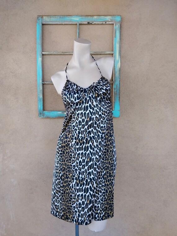 Vintage 1970s Leopard Print Nightgown Vanity Fair