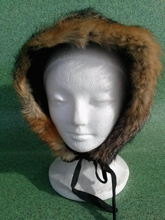 Vintage 1960s Hat Red Fox Fur Ushanka