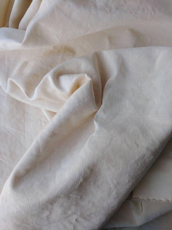 Vintage 1950s Upholstery Fabric Moire Taffeta Bridal White Etsy