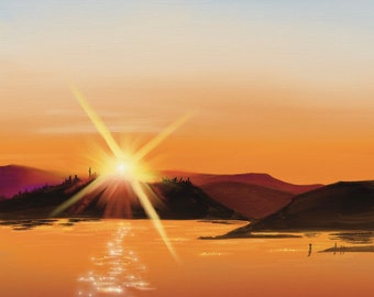 """Victoria Sunset - 8"""" by 8"""" Giclee print"""