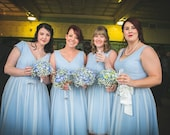 Bridesmaids dresses polka dot tulle vintage style bridesmaid dress 50s retro style dress uk blue ivory