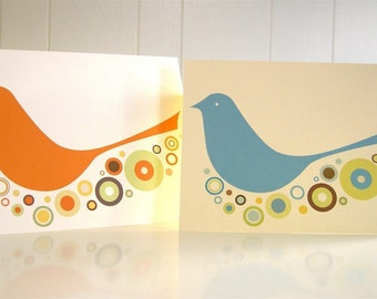 Birdie Cards-Set of 4