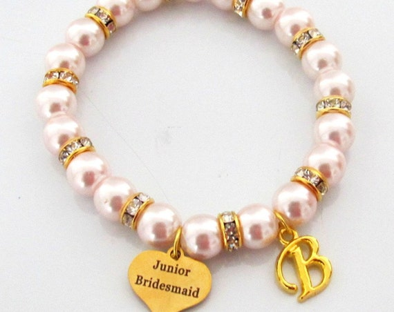 Gold Wedding Bracelet,Junior Bridesmaid Bracelet,Junior Bridesmaid Personalized Gift, Will You Be My Junior Bridesmaid, Free Shipping In USA