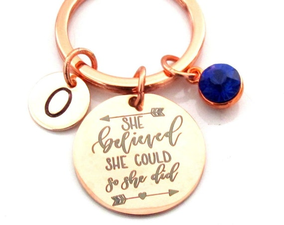 Sister Gift,Gift for Sister,Sister Birthday Gift,Motivational Gift,Inspirational Gift,Rose Gold Keychain,Graduation gift,,Free Shipping USA