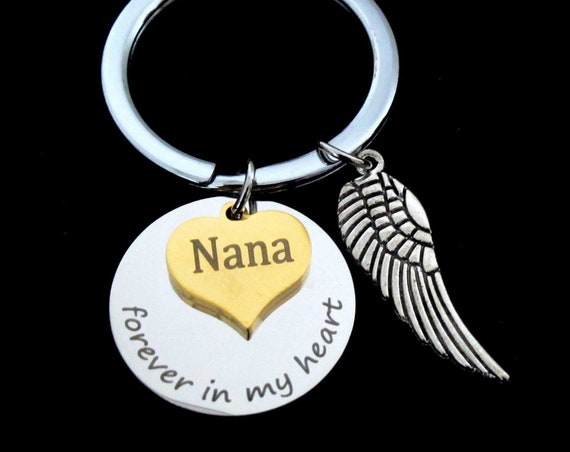 Personalized Memorial Jewelry,Grief, keychain,Grandma Memorial keychain,Mom memorial,Nana Memorial,Dad memorial keychain,Free Shipping USA