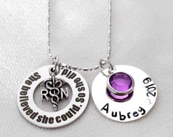 Nurse Graduate Gift 2019 Nurse Gift RN Necklace,Personlaized Nurse gift,BSN Graduate Gift,Gift for LPN,Gift For Dentist,Nurse Practitioner