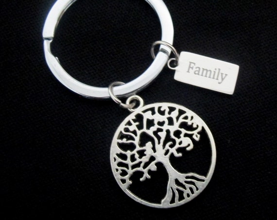 Family tree keychain,Keychain for Mom, Gift for Mom, Tree of Life Keychain, Personalize Gift,Personalized family keychain,Free Shipping USA