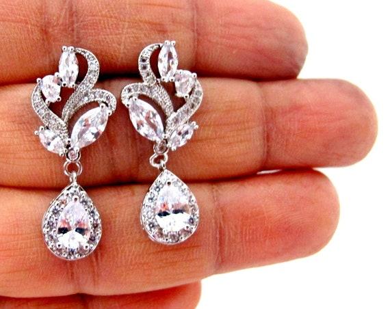 Crystal Bridal Earrings, Wedding earrings,Prom Earrings,Custom Drop Earrings,Crystal Bridal earrings Wedding jewelry,Crystal Wedding earring