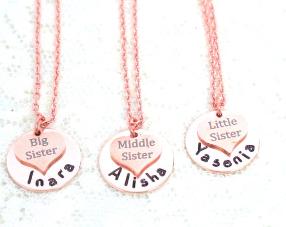 Sister Gift, Gift for Sister, Gift for Sisters, Sister Necklace, Sister Birthday Gift, Big Sister Gift,Little Sister,Middle Sisters jewelry,