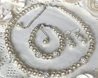 Flower Girl Jewelry Set,flower girl necklace,flower girl brafelet,Junior Bridesmaid Jewelry,Childrens Jewelry,wedding gift Free Shipping USA