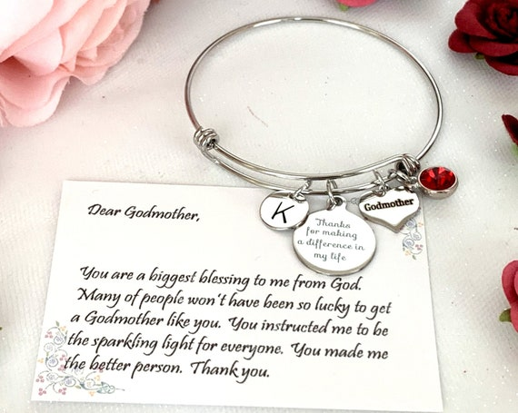 Bonus mom gift, Gift for Step mom, Gift for Godmother,Rose gold Personalized bracelet, Godparent Gift,Gift, gift for Aunt, Godmother jewelry