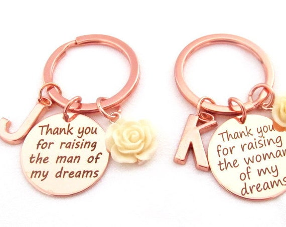 Rose gold wedding gift,Mother of the groom gift Mother of the bride gift,Mother in law wedding gift,Rose gold keychain,Free Shipping in USA
