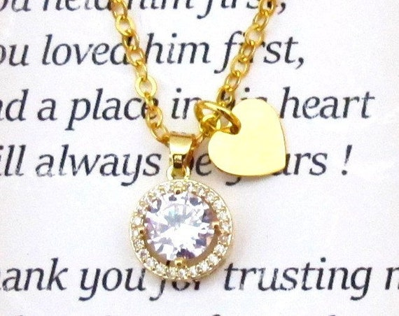 Future Mother in Law Wedding gift, Mother of Bride,Mother of Groom gift,CZ Weding Jewelry, Christmas Gift,Girlfriend gift,Free Shippin g USA