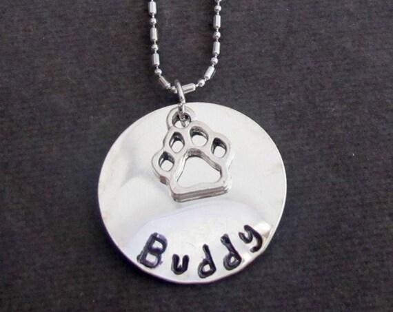 Dog Necklace Personalized Dog Paw Necklace, Dog Paw Necklace, Pet Paw Print Personalized Necklace, Pet Lover Gift,Dog Necklace Personalized
