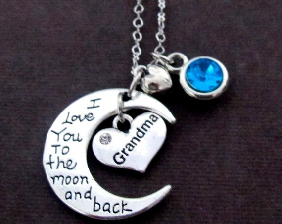 Grandma Necklace, Nana Necklace, Mom Neckace,Mother's Day gift, Personalized Mother gift,I Love you, Mother In Law gift, Free Shipping USA