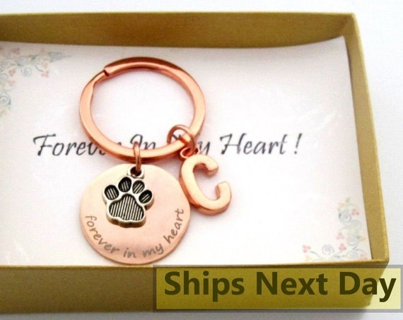 Pet Memorial Keychain,Memory of Pet,Pet Remembrance,Dog Memorial,Personalized Pet,Loss of Pet, Ready to Gift in Gift Box with card message