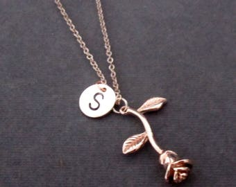 Rose Gold Rose Necklace d7edc35f0aad