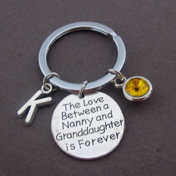 Gift for Nanny,Mother's Day gift,The Love between Nanny and granddaughter is forever,Nanny gift,Nana,Grandma Gift jewelry, Free Shipping USA